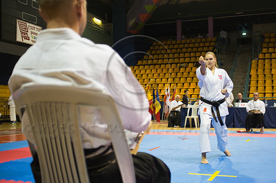 Dovile Aladaityte of the Lithuanian team performs a Kata at the 2011 European Traditional Karate Championship hosted by the Traditional Karate Federation of Israel. Jerusalem, Israel. 17th November 2011.